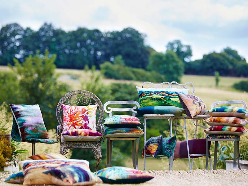 beautiful outdoor cushions