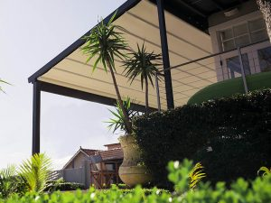 timber pergola frame with retractable roof is water proof