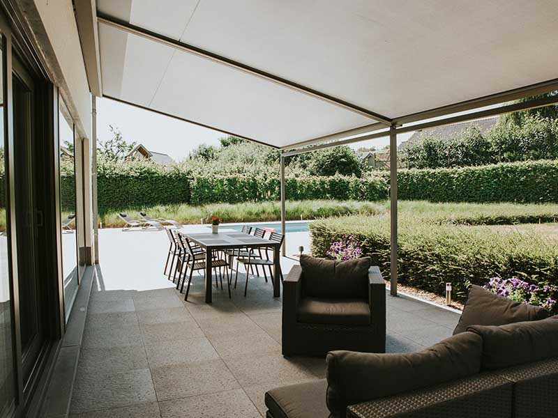 Zip Patio Conservatory Awning creates an outdoor room