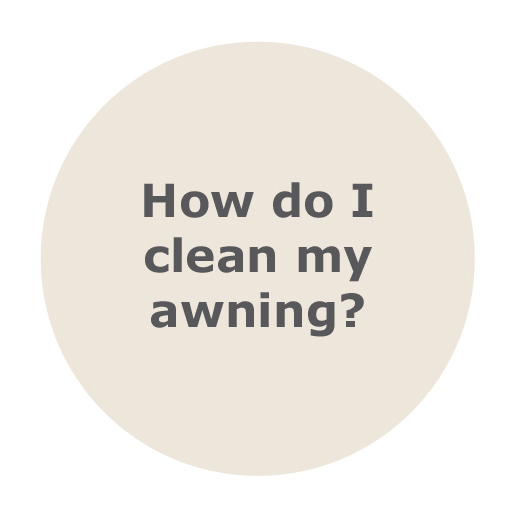 How do I clean my retractable awning?