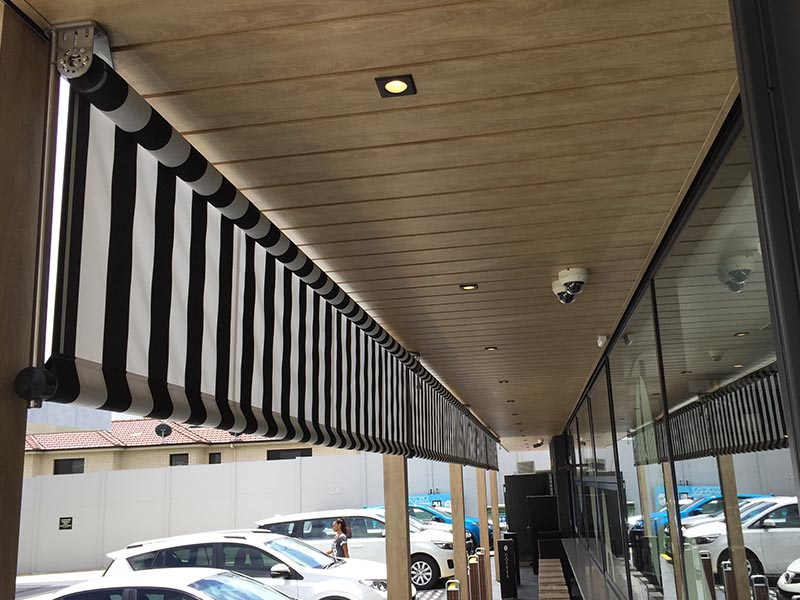 Shop Front retractable awnings in Sydney