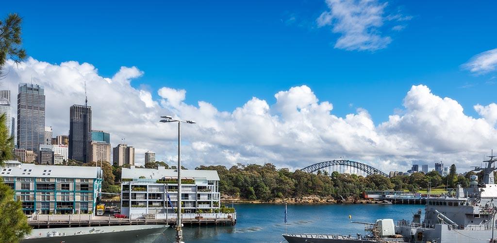Sydney harbourside suburn of Woolloomooloo