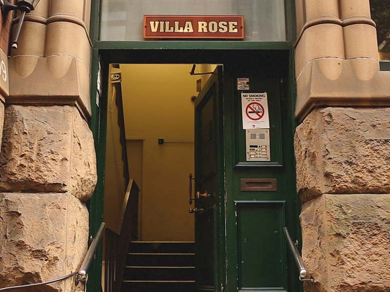 The entrance to Old Mates Place 4/199 Clarence St Sydney